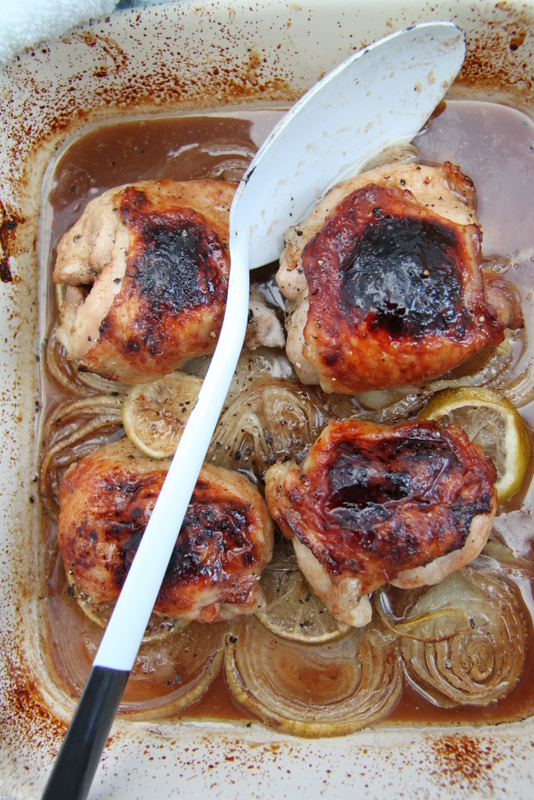 Kurczak pieczony w cytrynowym vinaigrette