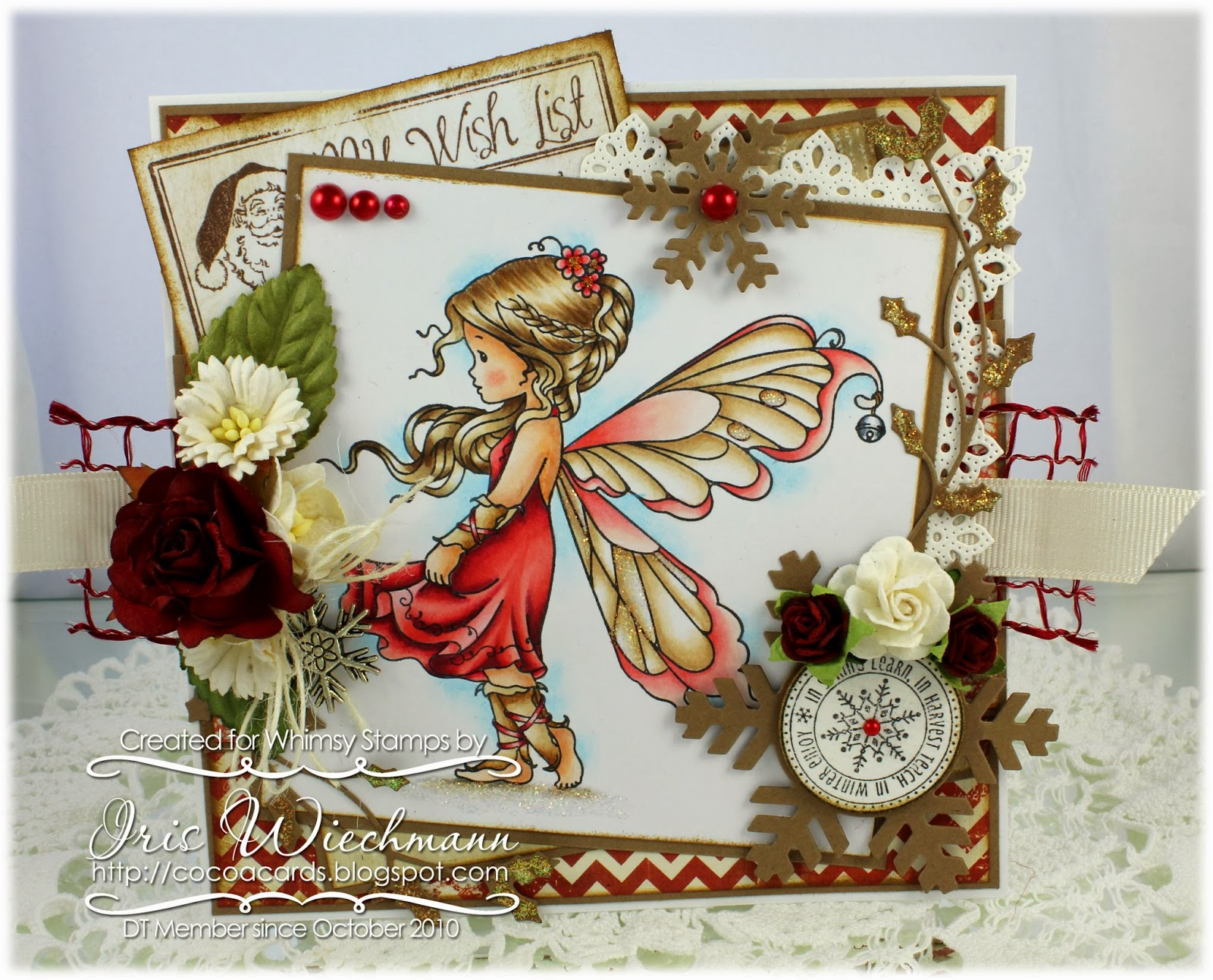 Paper Crafting In Cocoa A Christmas Fairy Amp Some Fun