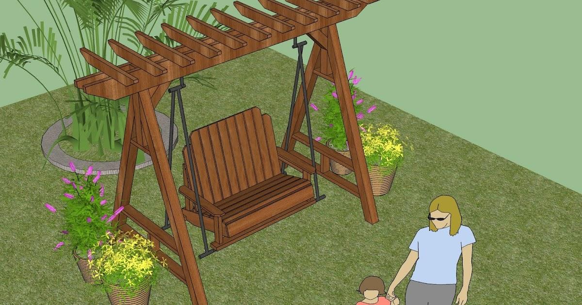 Home garden plans home garden plans sw101 arbor swing for Home and garden tv design 101