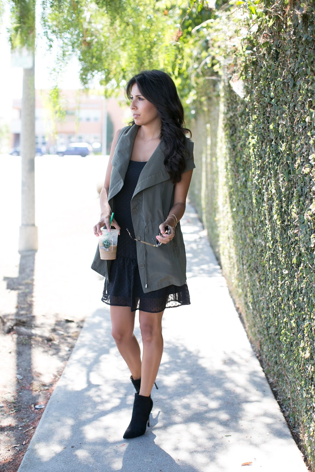 olive vest, justfab boots, how to shop at justfab, pursuit of shoes
