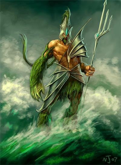 Top 10 Illustrations of Poseidon – The God of the Sea