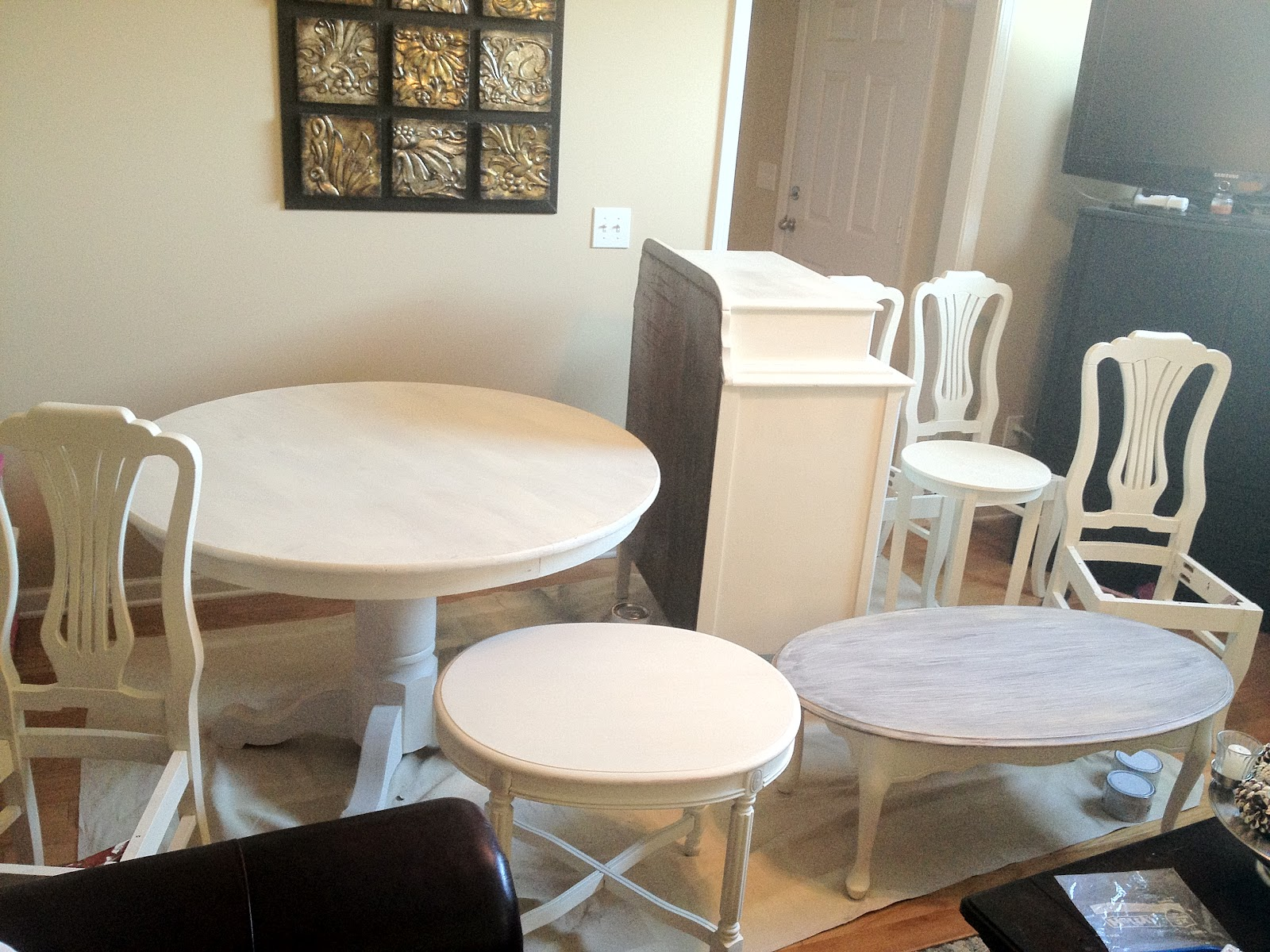 Chalk Paint Dining Room Table Simply Reinvented Annie Sloan Wax Tutorial