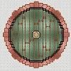 bag end hobbit hole door cross stitch chart