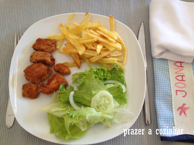 prazer a cozinhar - nuggets de frango