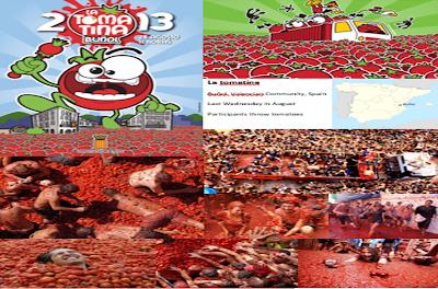 Grammazzle Spain España Sbaen Fiesta Tomatina Tirar Tomate Buñol Rojo