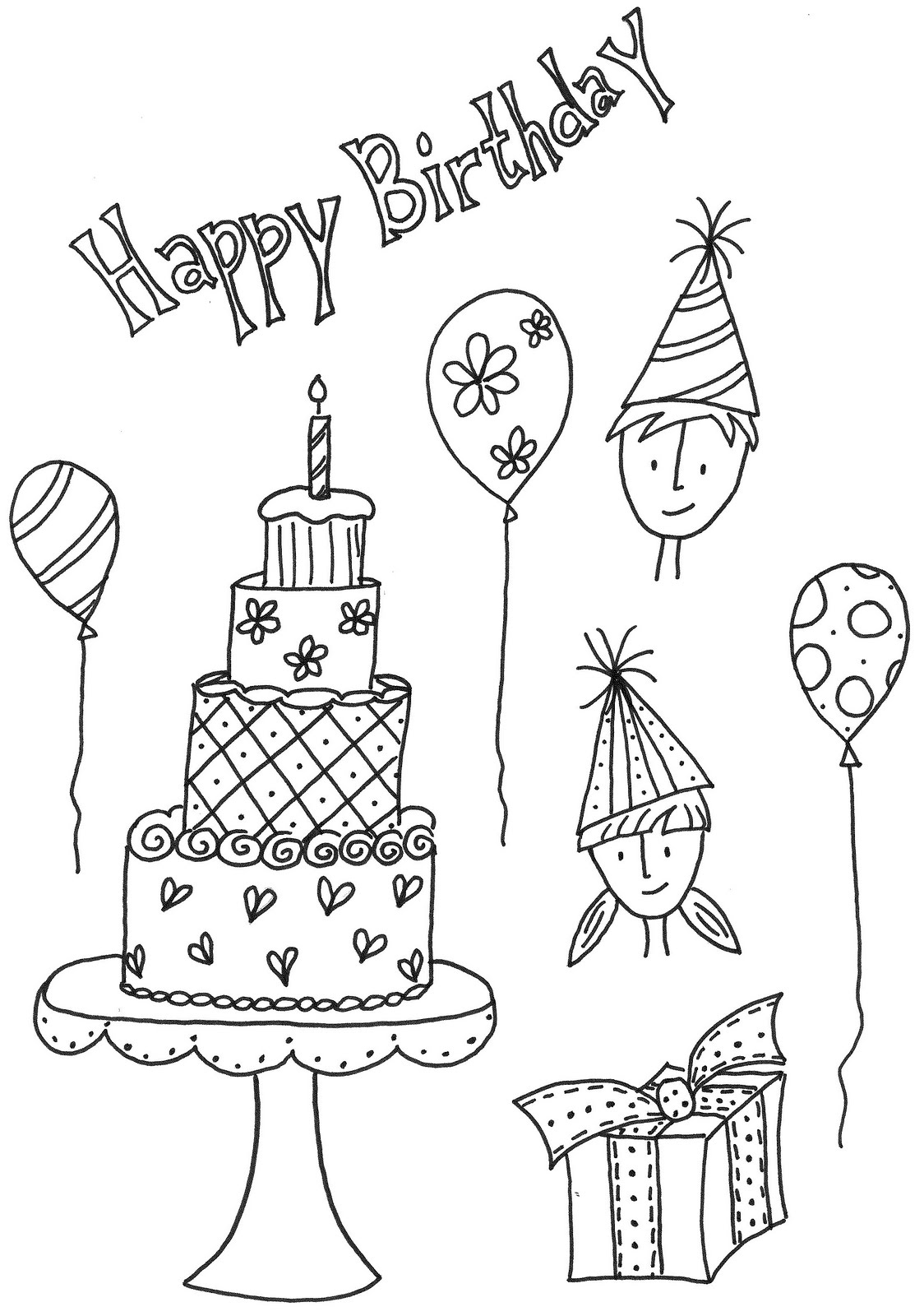 Pencil birthday cake drawing i want to do a birthdayhappy birthday pencil drawings