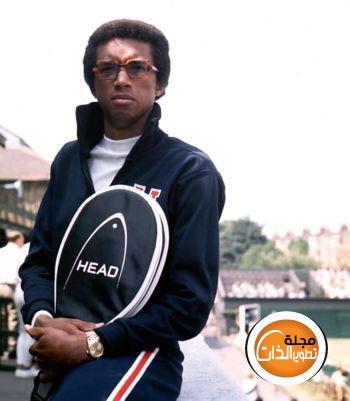 قصة ارثر اسطورة التنس Arthur-Ashe-Rolex-pr