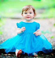Blue frock Girl Baby Pics Pictures of babies kids