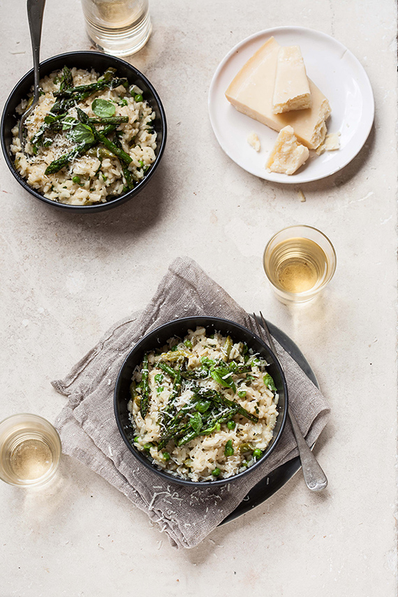 Pea and asparagus risotto with basil and lemon | Drizzle & Dip