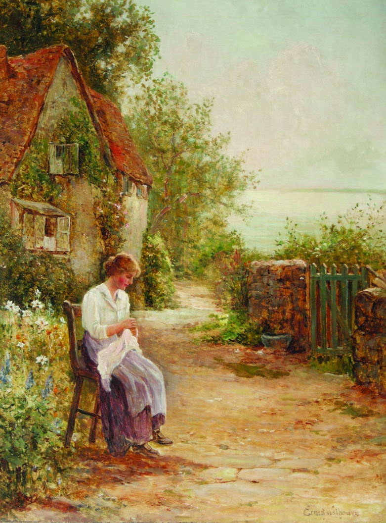 English country garden paintings - English Country Garden Paintings Victorian British Painting Ernest Walbourn
