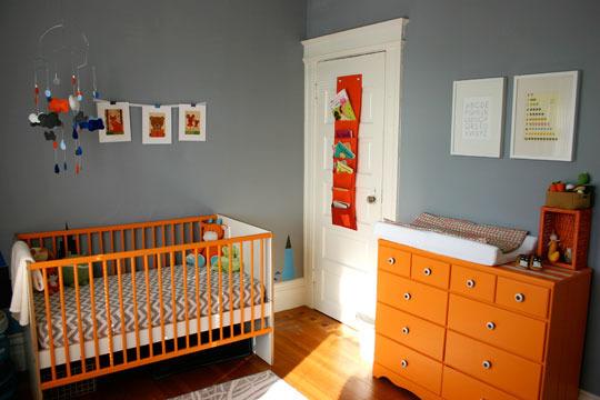 A cor cinza no quarto do bebê Multimóveis Baby