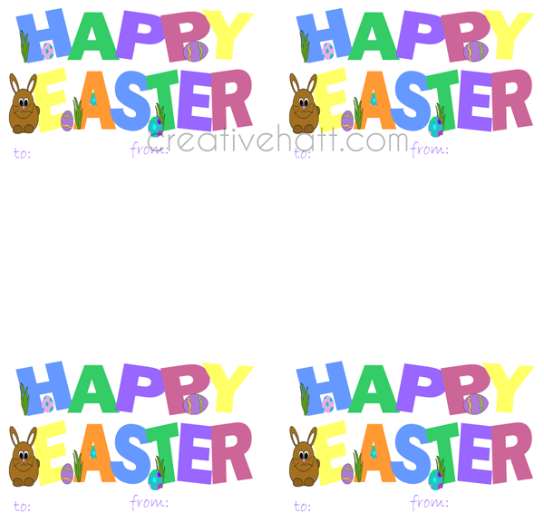 Creativehatt free easter printables gift tags and treasurer happy easter gift tags free printables negle Images