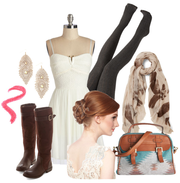Rustic chic outfit inspiration from @faitboum on Polyvore