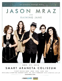 Jason Mraz and Raining Jane Live in Manila