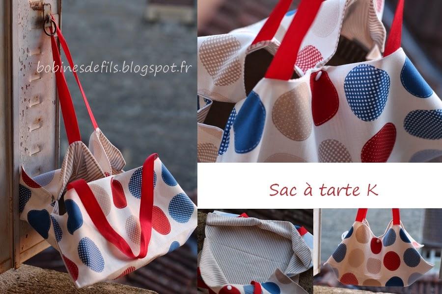 Sac à tarte K détails / bobinesdefils.blogspot.fr