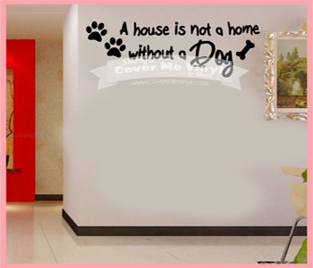 A house is not a home... wall Decal