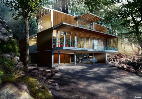 Cool Home Made Of Recycled Shipping Containers