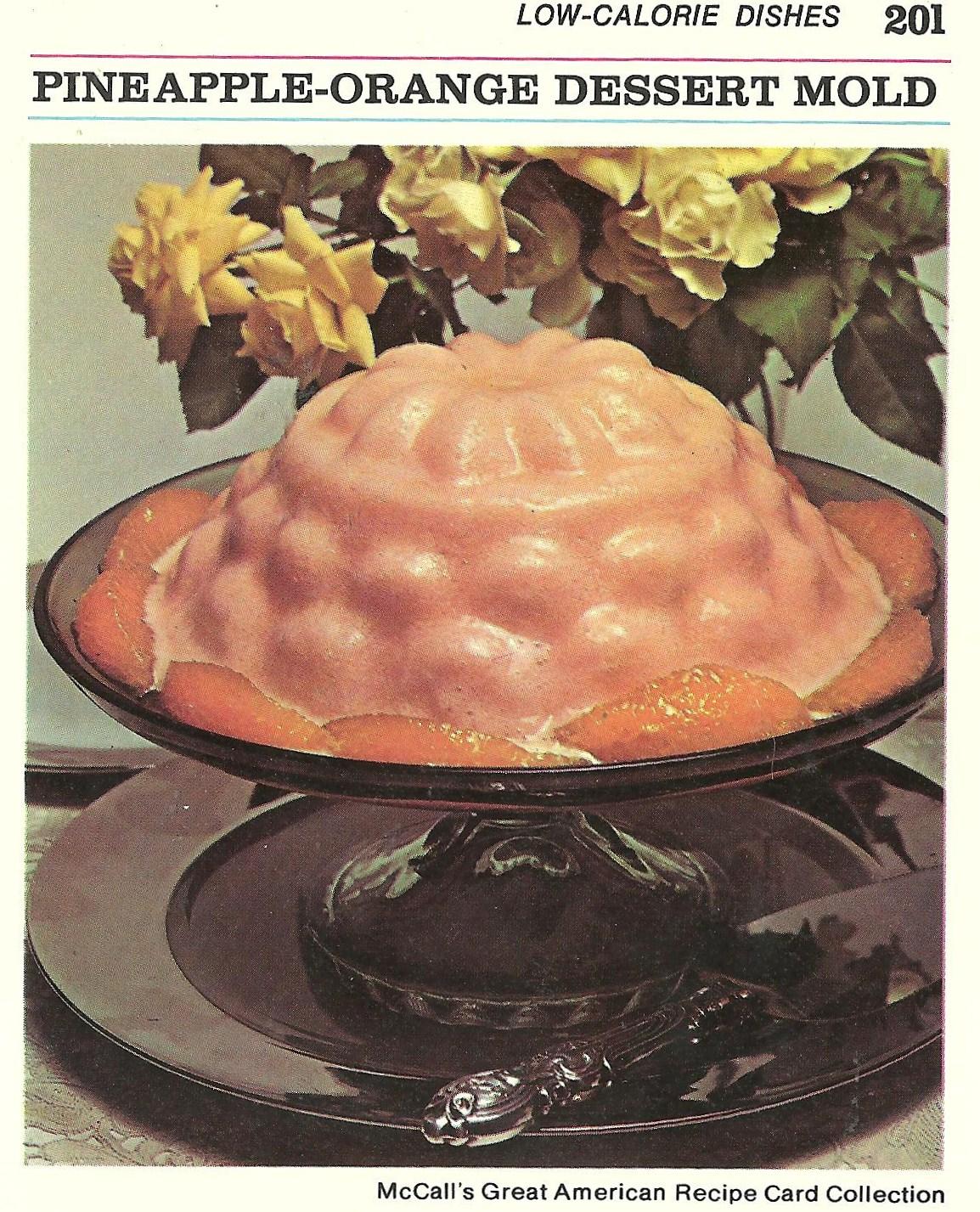 En natuurlijk ananas-sinaasappel in gelatine als toetje