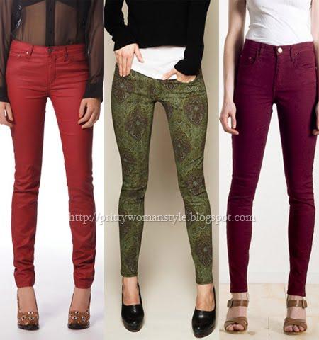 цветни джинси