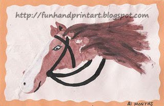Footprint Horse craft for kids