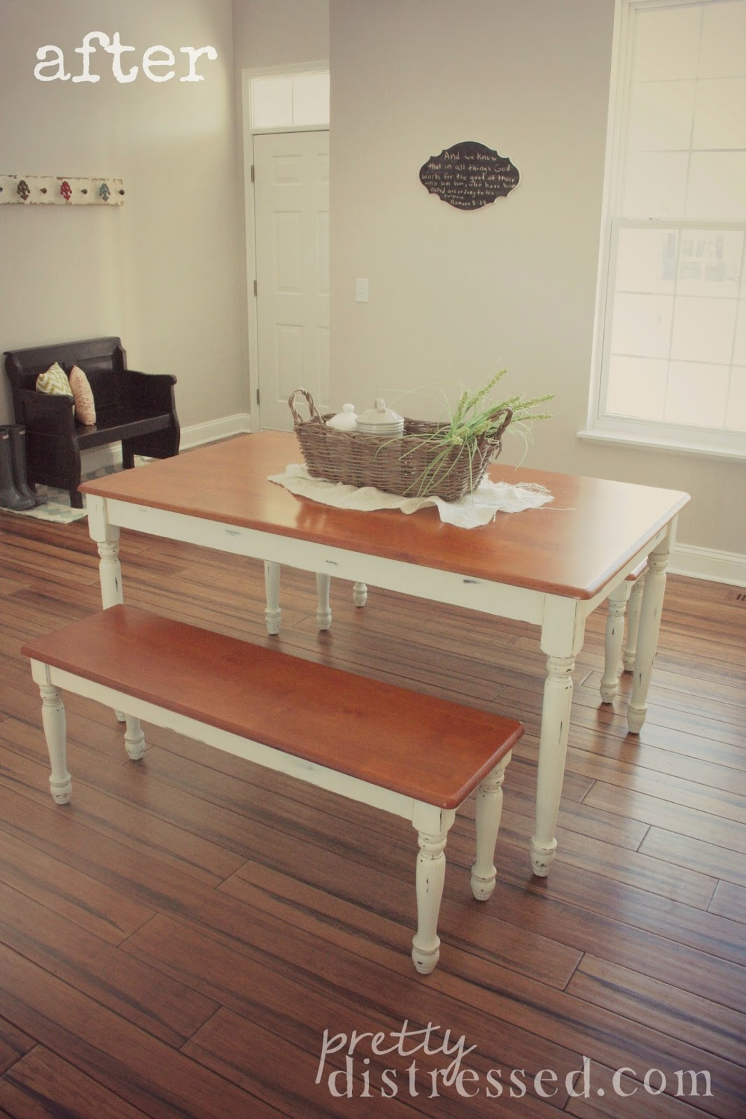 Pretty Distressed Walmart Kitchen Table Makeover