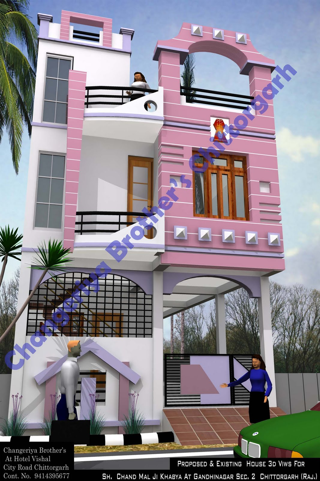 Mr chand mal khabya 3d naksha for House naksha image