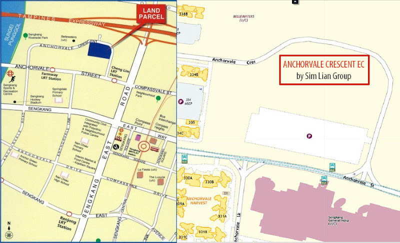 Anchorvale Crescent EC Location