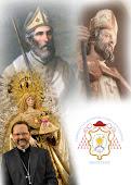 Nuestros Santos:La santísima Virgen del Rosario, San Geroncio  y San Isidoro.