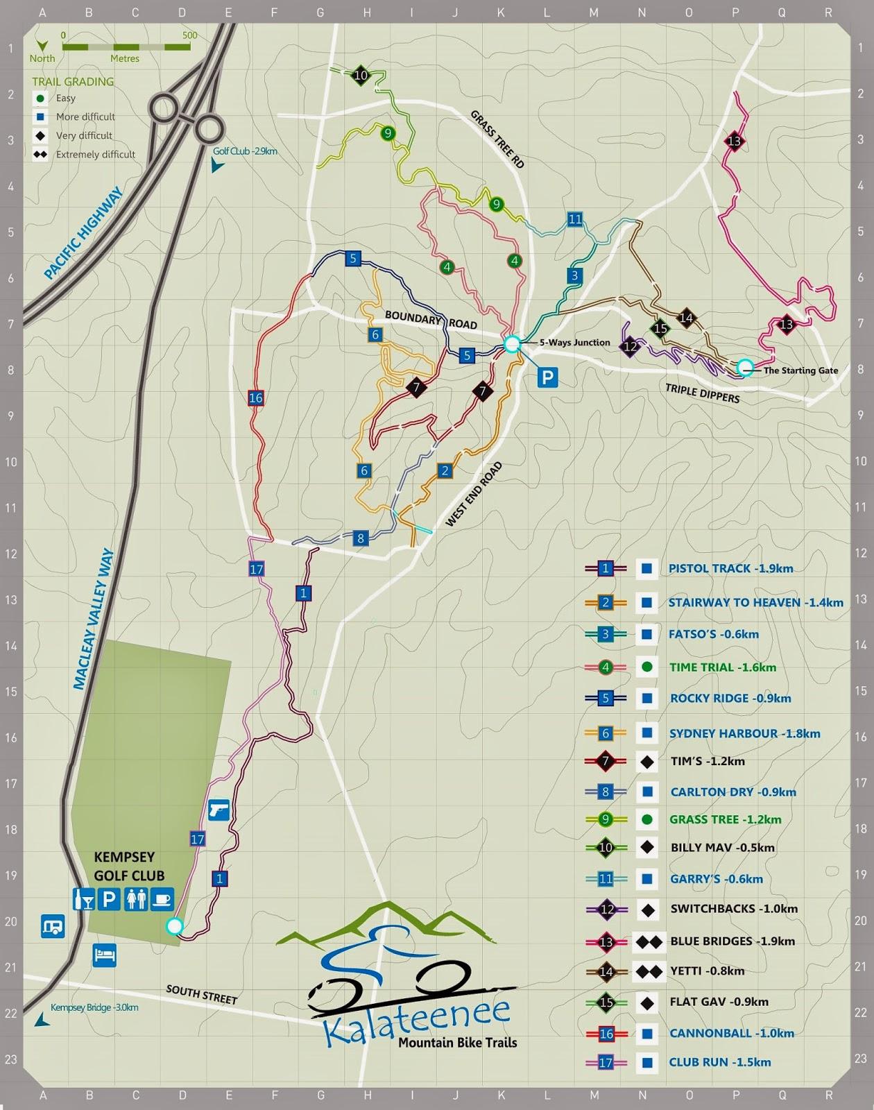 Kalateenee Trail Map