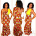 Beautiful One Shoulder Ankara Style For Ladies