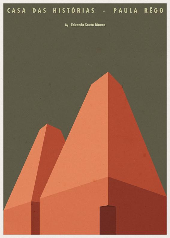 Casa das Histórias Paula Rego - Eduardo Souto Moura - Posters de Arquitectura Minimalistas de André Chiote