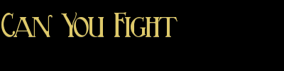 Can You Fight