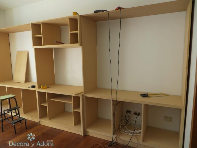 diseñar el mueble de la biblioteca pensé mucho en la alternativa de