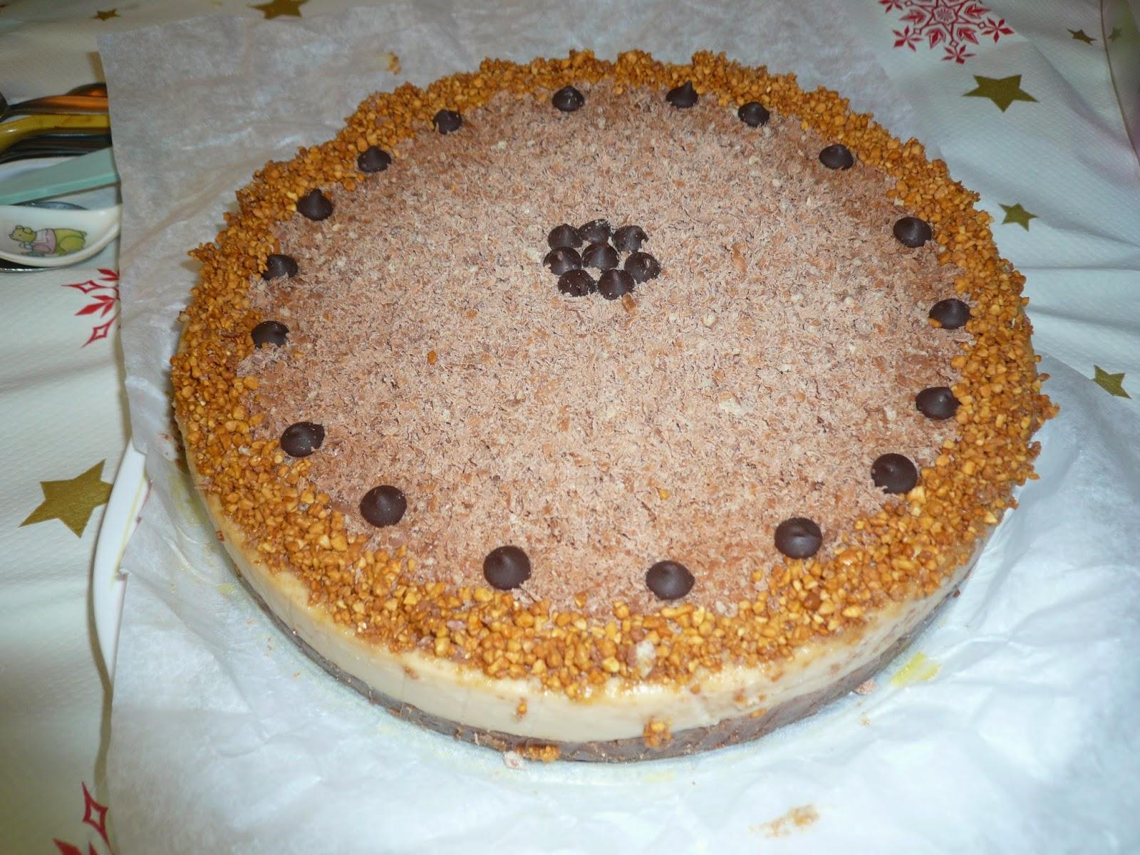 tarta fresca de turrón, tarta de turrón, tarta, turrón, tarta fresca