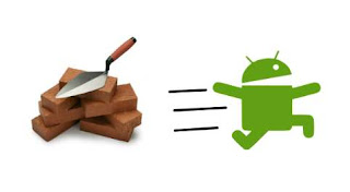 android running from brick