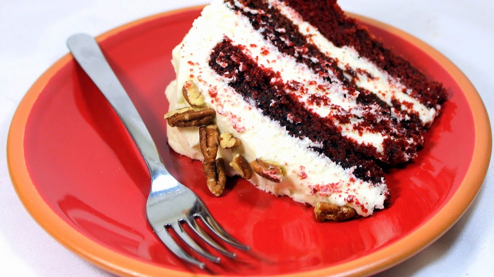 Traditional Red Velvet Cake No Food Coloring