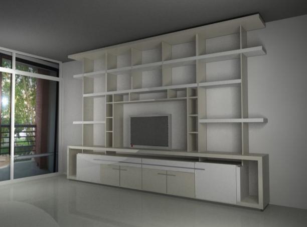 Sergio Alvarez Mueble para TV y biblioteca