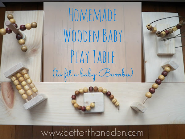 Homemade Wooden Baby Play Table (to fit a Bumbo)