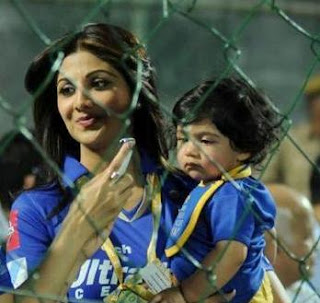 Shilpa shetty with her Son photo
