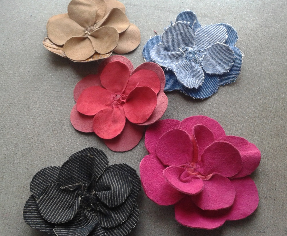 craftrebella fabric leather flowers