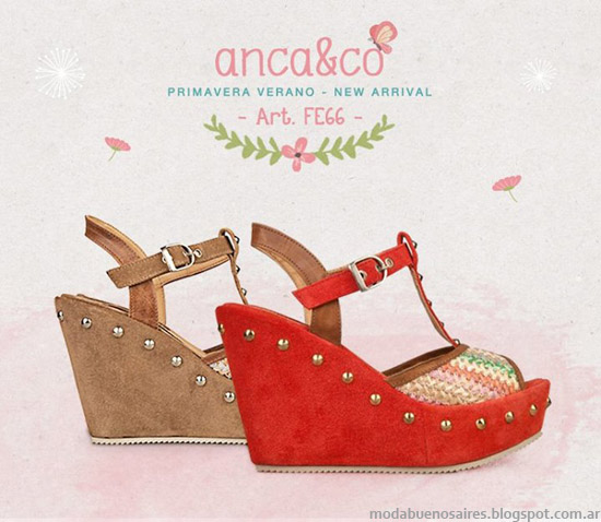 Sandalias 2014 Anca & Co verano 2014. Moda sandalias 2014.