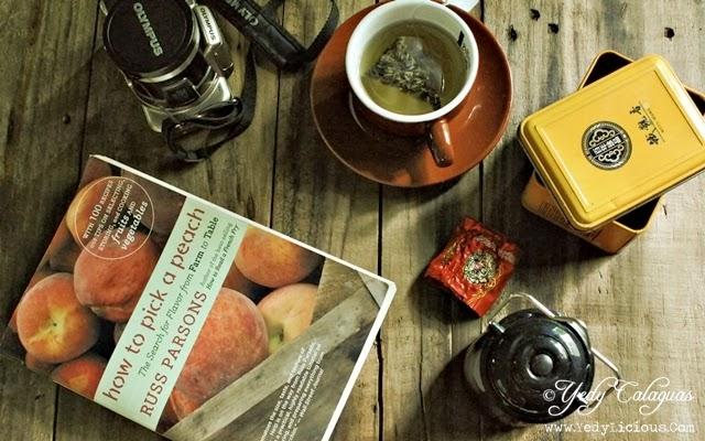 Book, camera, tea
