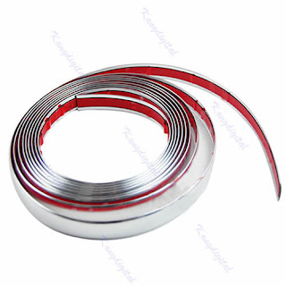 Silver 8mm 15M Car Auto Chrome DIY Moulding Trim Strip For Window Bumper Grille