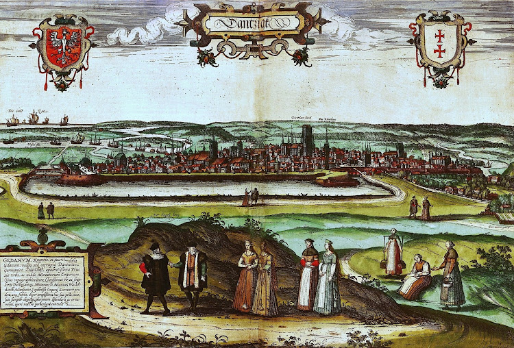 Anonim - View of Gdansk in 16th century