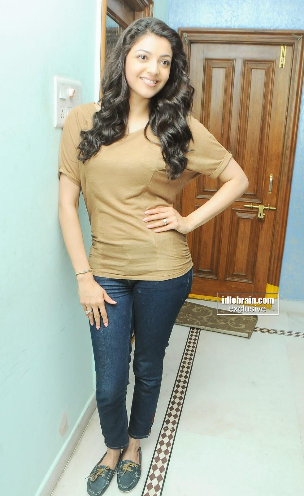 kajal agarwal in tight jeans