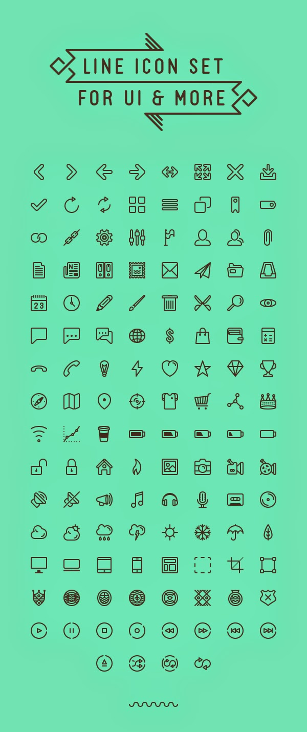 Line icon set for UI & more // Infinitely scalable by Situ Herrera