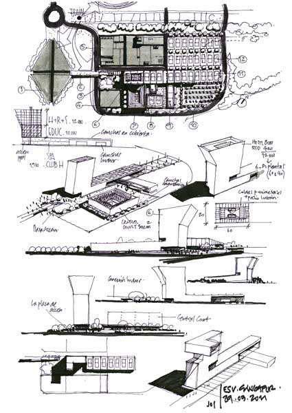 Dibujos de arquitecto architect drawings 110329 esv - Trabajo arquitecto barcelona ...