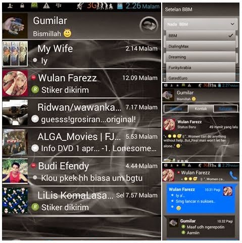 BBM Dark Grey v2.7.0.23 Apk