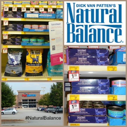 Collage of #NaturalBalance Wild Pursuit cat products at PetSmart
