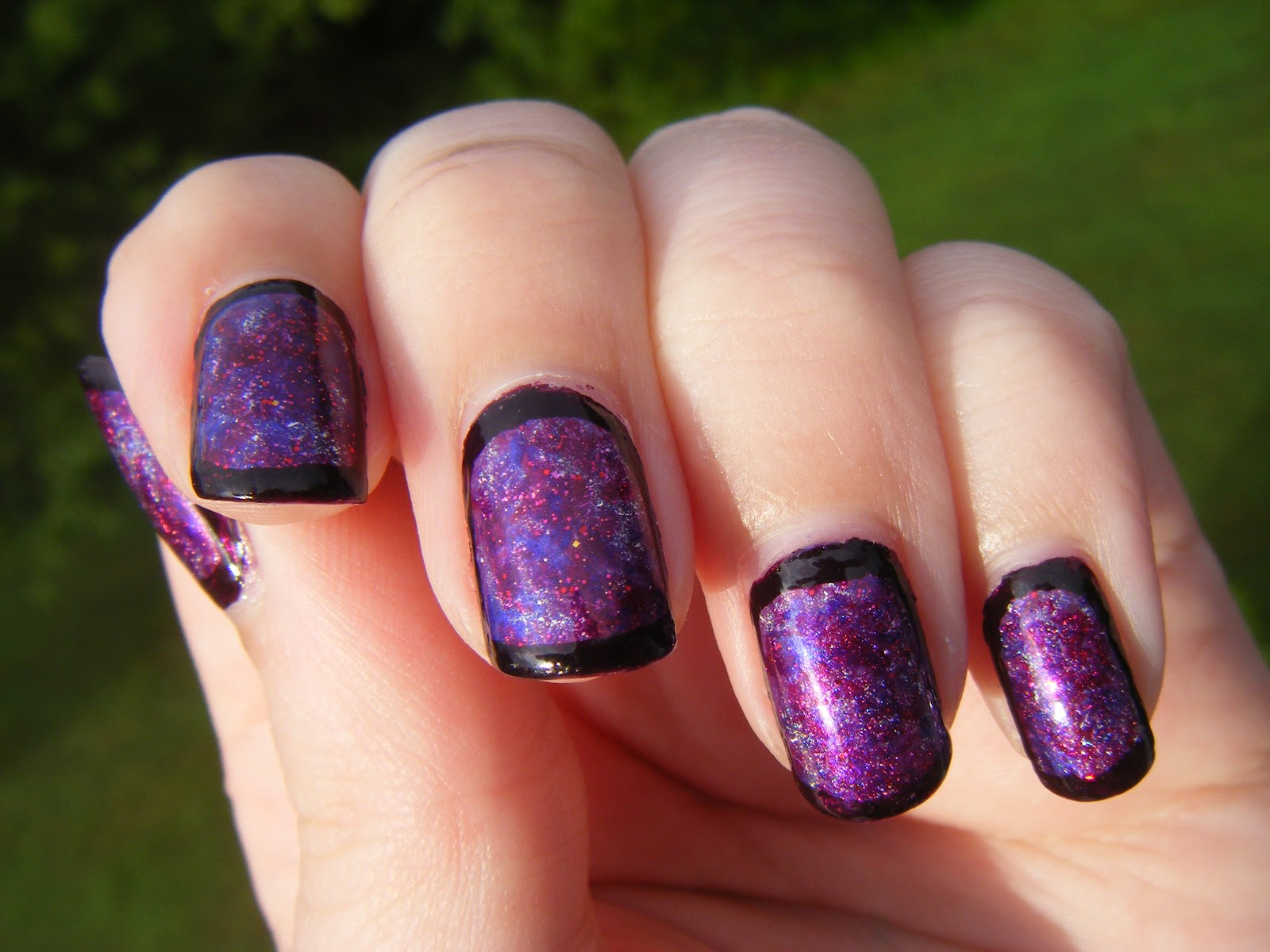 Starlight Radiance: Purple Monochromatic Nails (Very Picture Heavy)